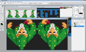 Photoshop sprite session